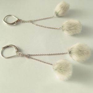 Weidenkätzchen-Schmuck-Weidenkätzchen-Ohrringe